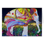 Tarjeta hermosa del elefante