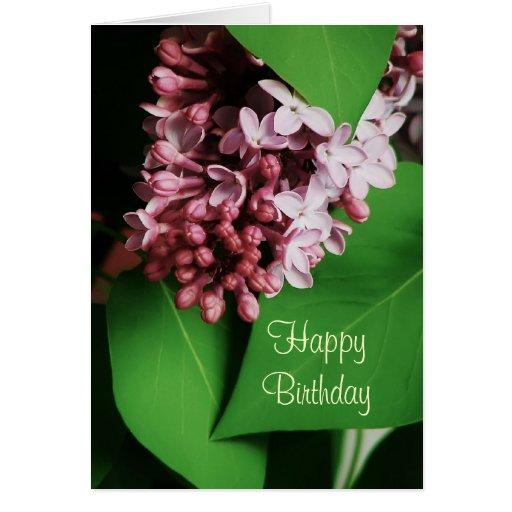 Tarjeta hermosa del feliz cumpleaños de la floraci