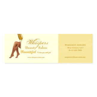 Tarjeta hermosa del perfil de las piernas tarjetas de visita mini