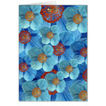 Tarjeta Himalayan azul de la flor de la amapola