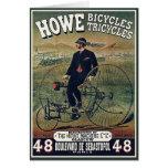 Tarjeta:  Howe monta en bicicleta los triciclos