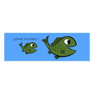 Tarjeta ida del perfil de Fishin - modificada para Plantillas De Tarjeta De Negocio