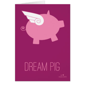 Tarjeta ideal del cerdo