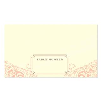 Tarjeta ideal delicada del acompañamiento del boda plantillas de tarjetas personales