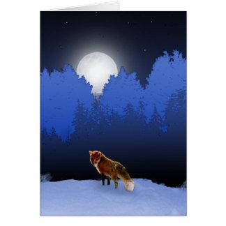 Tarjeta iluminada por la luna del Fox