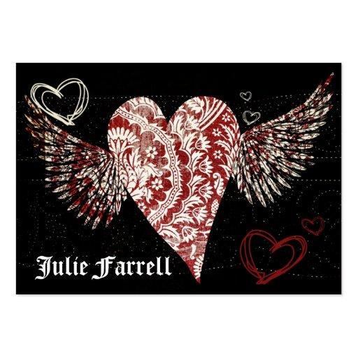 Tarjeta ilustrada del artista del corazón tarjetas de visita grandes