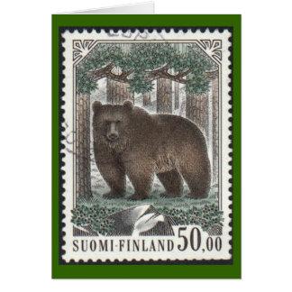 Tarjeta ilustrada del oso de Brown