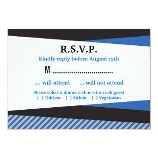 "Tarjeta inclinada de Mitzvah RSVP de la barra de Invitación 3.5"" X 5"""