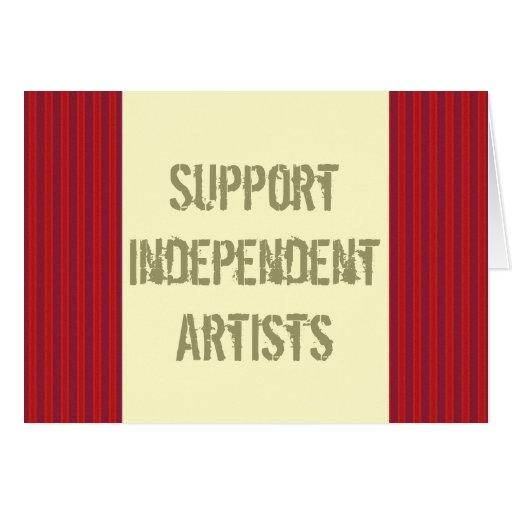 Tarjeta independiente de los artistas de la ayuda