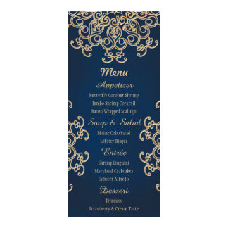 Tarjeta india del menú del boda del estilo de la plantilla de lona