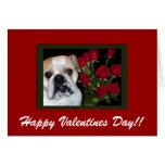 Tarjeta inglesa del el día de San Valentín del dog