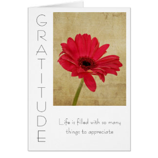 Tarjeta inspirada de la gratitud
