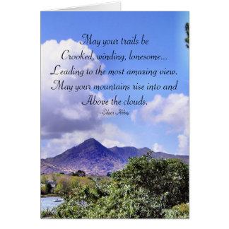 Tarjeta inspirada de la montaña