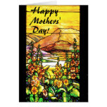 Tarjeta inspirada del día de las mamáes del vitral