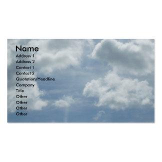 Tarjeta inspirada del perfil tarjetas de visita