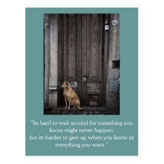 Tarjeta inspirada: Esperar 1 Tarjetas Postales