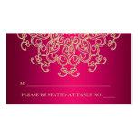 Tarjeta inspirada india del lugar de las rosas fue plantillas de tarjetas personales