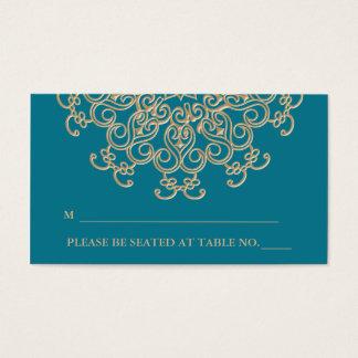 Tarjeta inspirada india del lugar del oro del tarjetas de visita