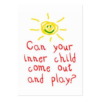 Tarjeta interna de la diversión del niño tarjetas de visita grandes