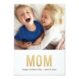 """Tarjeta intrépida de la foto del día de madre de invitación 5"""" x 7"""""""