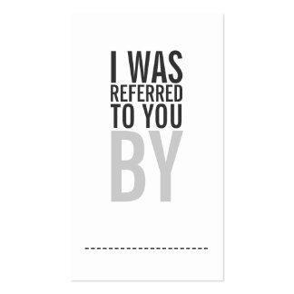 Tarjeta intrépida de la remisión de la tipografía tarjeta de visita