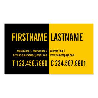 Tarjeta intrépida moderna del perfil del amarillo tarjetas de visita
