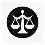 Tarjeta/invitación de la ley invitación 13,3 cm x 13,3cm