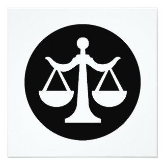 Tarjeta/invitación de la ley
