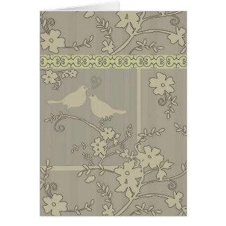 Tarjeta/invitaciones del ~ de dos pájaros del amor tarjeta pequeña