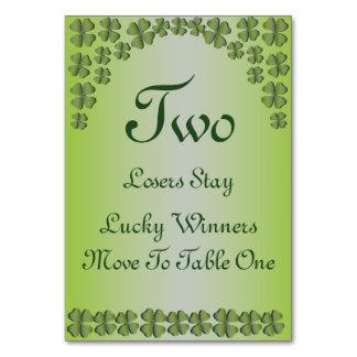 Tarjeta irlandesa afortunada #2 de la tabla del