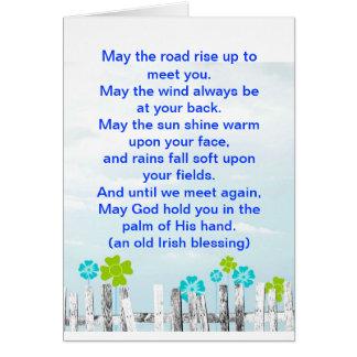 Tarjeta irlandesa de la bendición