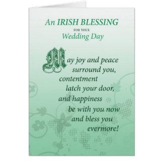 Tarjeta irlandesa de la enhorabuena de la