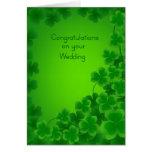 Tarjeta irlandesa de la enhorabuena del boda