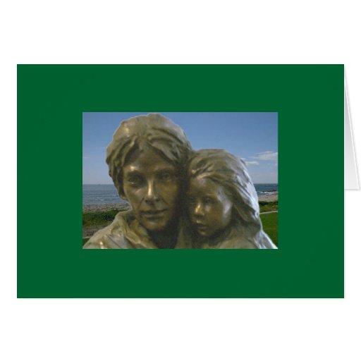 Tarjeta irlandesa de la madre y del niño