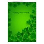 Tarjeta irlandesa del aniversario