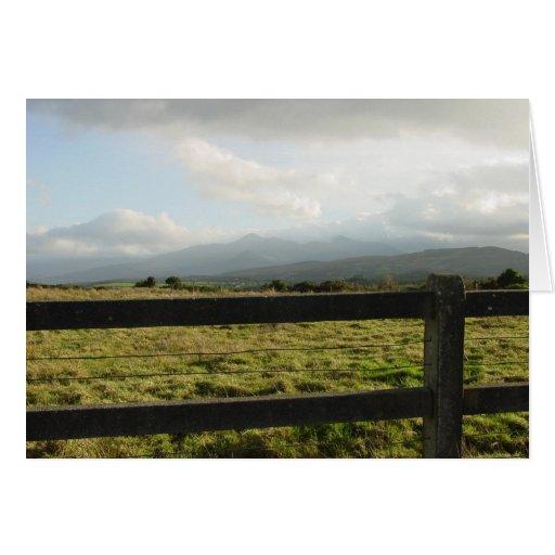 Tarjeta irlandesa del campo
