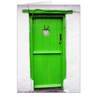 Tarjeta irlandesa verde de la puerta