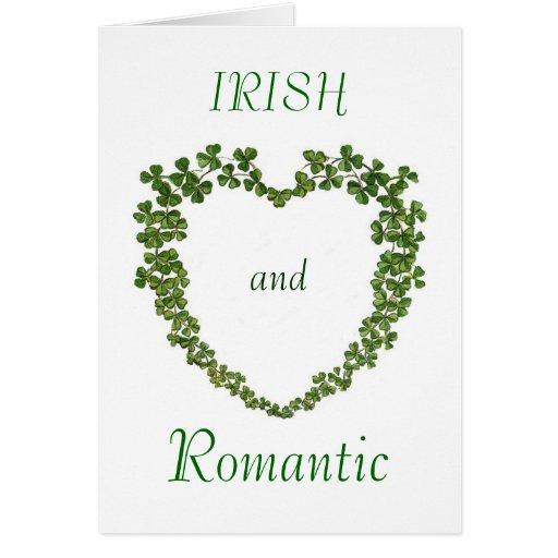 Tarjeta irlandesa y romántica de las tarjetas del