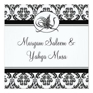 Tarjeta islámica de la invitación del boda del