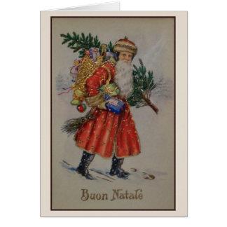 Tarjeta italiana de Buon Natale del navidad del