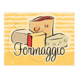 Tarjeta italiana de la receta del queso postal