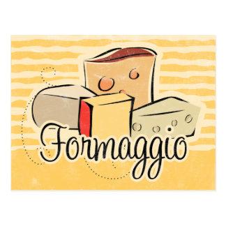 Tarjeta italiana de la receta del queso postales