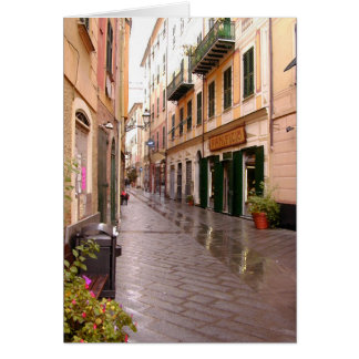Tarjeta italiana de las calles
