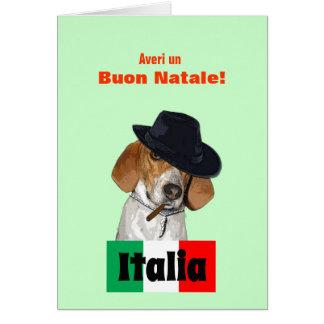Tarjeta italiana divertida del perro de Charley