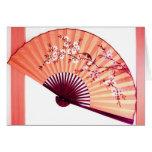 Tarjeta japonesa de la decoración de la fan