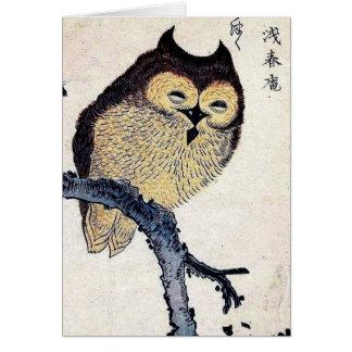 Tarjeta japonesa del búho