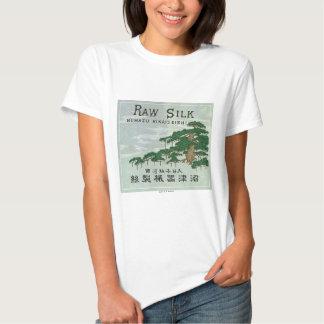 Tarjeta japonesa del comercio de la seda del camisas