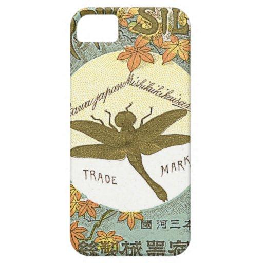 Tarjeta japonesa del comercio de la seda del funda para iPhone SE/5/5s