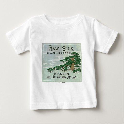 Tarjeta japonesa del comercio de la seda del playeras