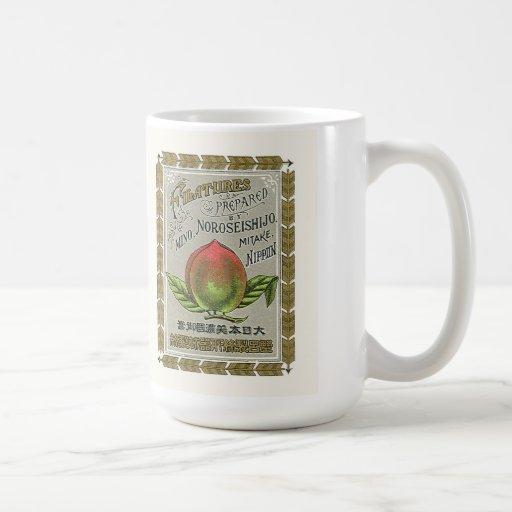 Tarjeta japonesa del comercio de la seda del taza